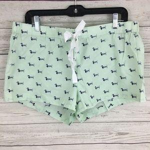 NWT J. Crew dachshund dog sailor novelty PJ shorts